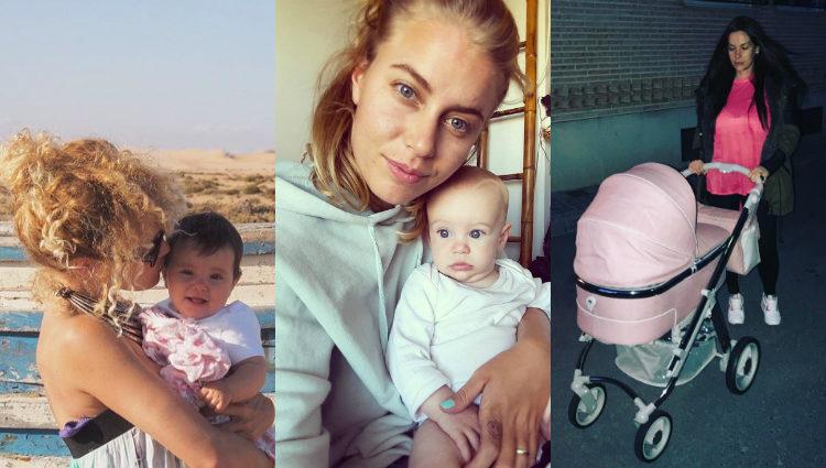 Las exconcursantes de 'GH' Azahara, Giuls y Laura Campos con sus bebés   Instagram