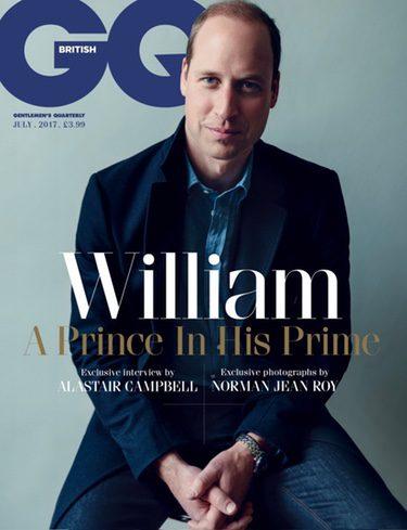 El Príncipe Guillermo en GQ