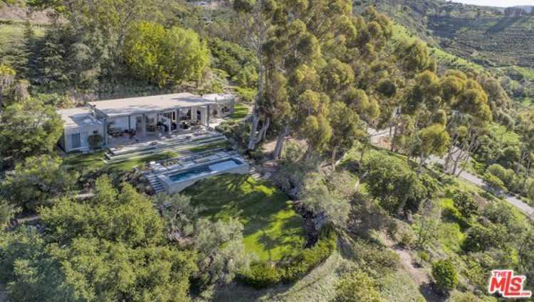 Vista aérea de la casa de Natalie Portman
