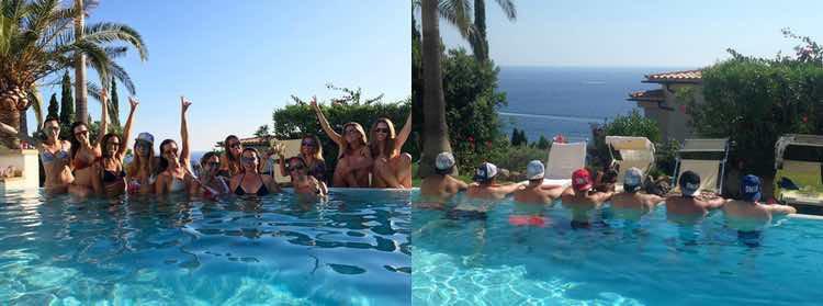 Pool party organizada con sus amigos / Instagram