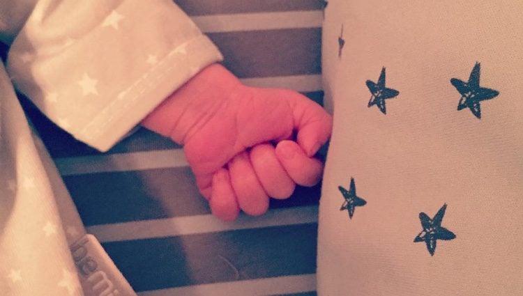 La imagen que ha publicado Marta Tomasa de su bebé/ Fuente: Instagram