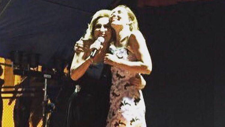 Rosa Benito y Rosario Mohedano en su concierto en Lloret de Mar