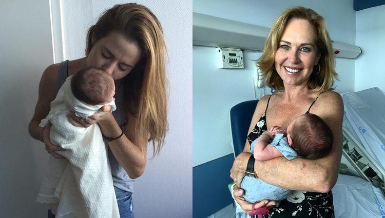 Amelia Bono y Ana Rodríguez con la recién nacida/ Fuente: Instagram