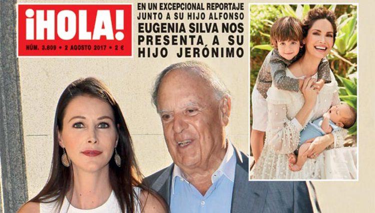Eugenia Silva y su posado con sus dos hijos en la revista ¡HOLA!