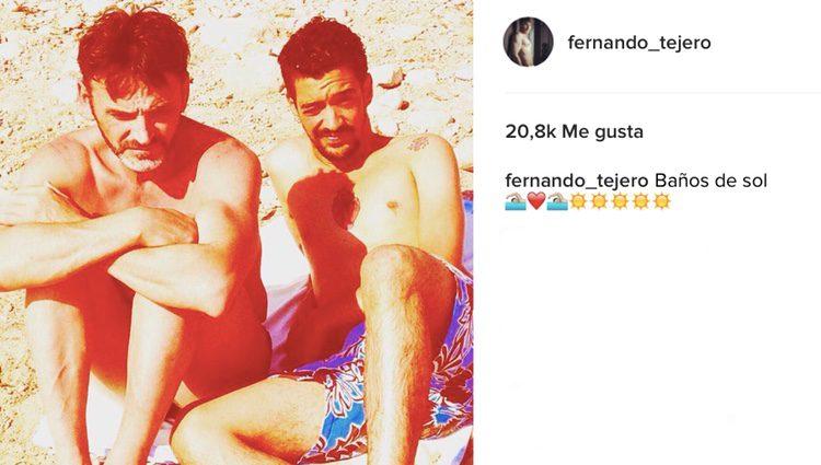 Fernando Tejero y Muerdo el verano pasado en Cádiz