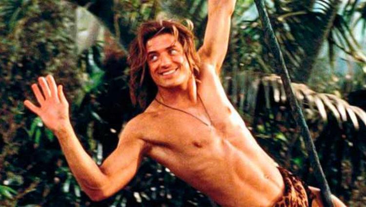 Brendan fraser en un fotograma de 'George de la jungla'