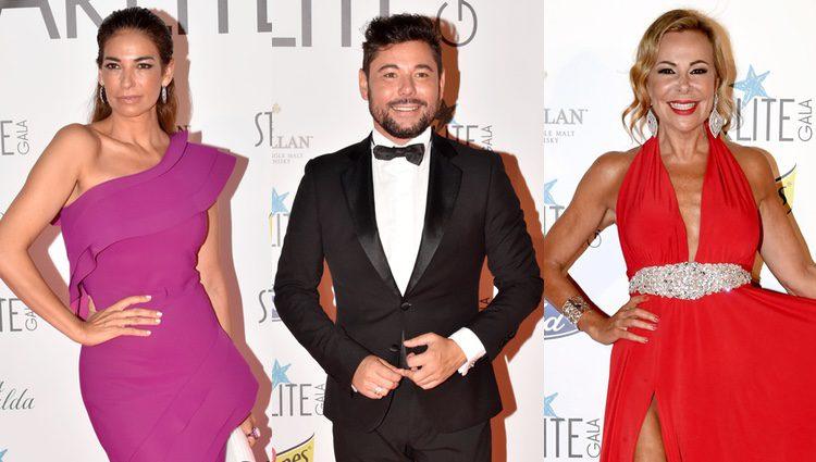 Mariló Montero, Miguel Poveda y Ana Obregón en la Gala Starlite 2017