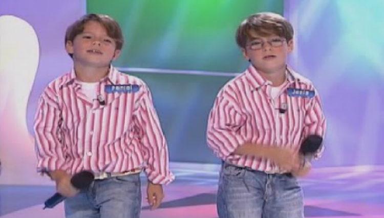 Los hermanos Oviedo con 4 años en el programa de Canal Sur 'Menuda noche'