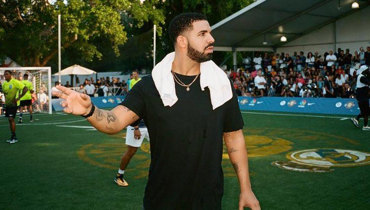 Drake en un partido amistoso del Real Madrid | Fuente: Instagram