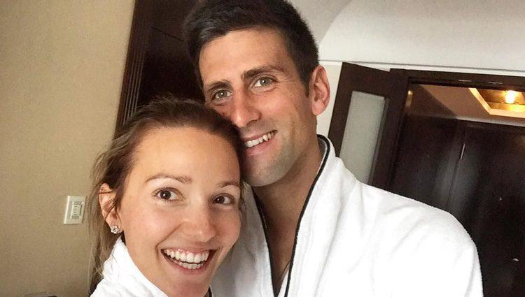 Novak Djokovi y su mujer Jelena Ristic celebrando su aniversario/ Fuente: Instagram Novak Djokovic