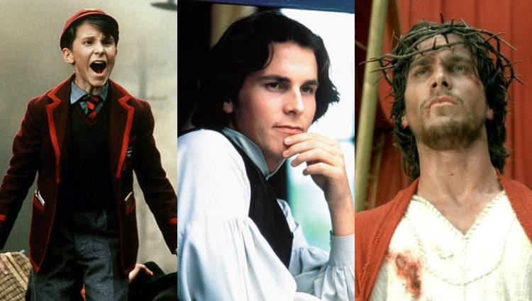Christian Bale en las películas 'El imperio del sol', 'Mujercitas' y 'María, madre de Jesus'