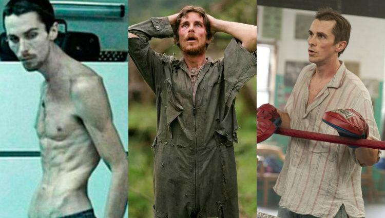 Bale, muy delgado en 'El maquinista', 'Rescate al amanecer' y 'The Fighter'