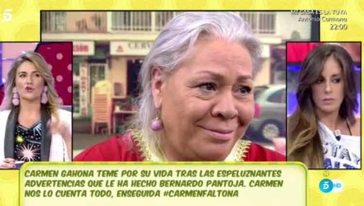 Carmen Gahona, indignada / Telecinco.es