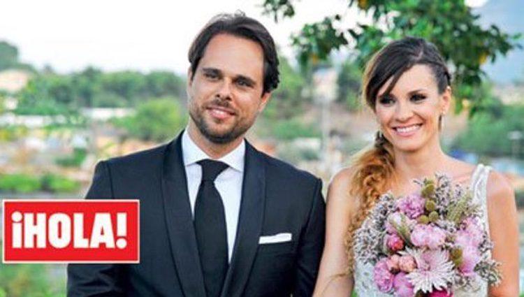 Ballesteros y Susarte muy felices el día de su boda