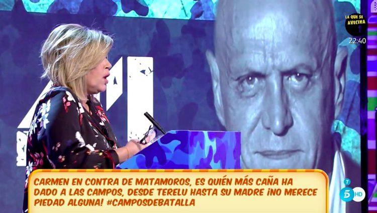 Terelu Campos en el debate de 'Sálvame'   Fuente: Telecinco