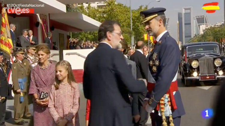 La Infanta Sofía, muy rígida en el Día de la Hispanidad 2017