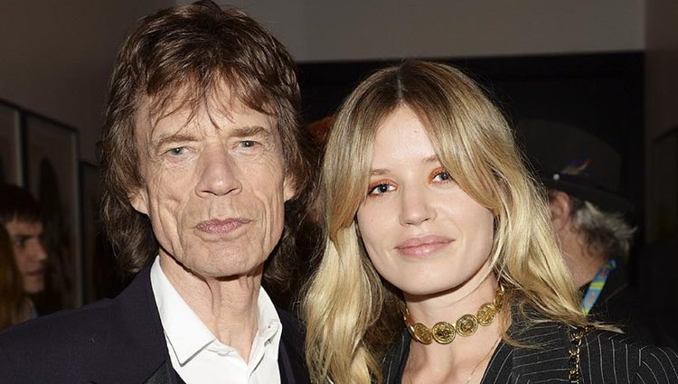 Mick Jagger junto a su hija Georgia May