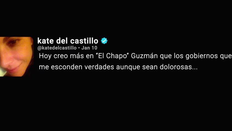 Polémico tuit de Kate del Castillo