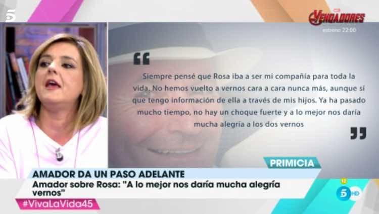Las declaraciones de Amador Mohedano / Telecinco.es