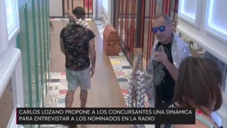 Carlos Lozano comentando su propuesta | Fuente: Telecinco