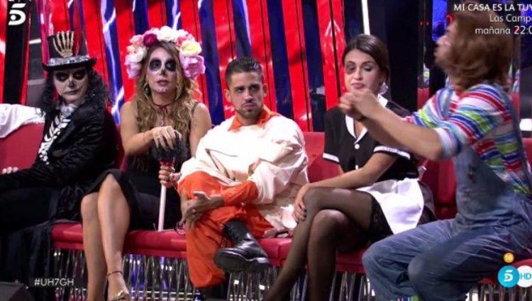 Nagore Robles junto a otros colaboradores en el plató de 'Gran Hermano'/ Fuente: telecinco.es