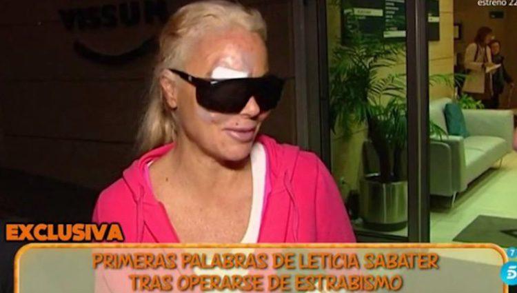 Leticia Sabater recién operada