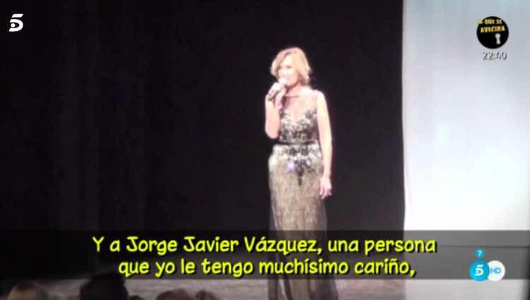 Rosa Benito se acuerda de Jorge Javier Vázquez / Telecinco.es