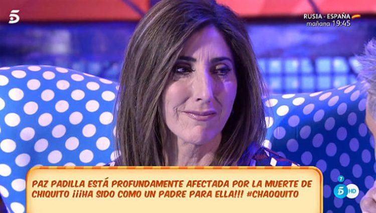 Paz Padilla en el homenaje a Chiquito de la Calzada   Fuente: Telecinco