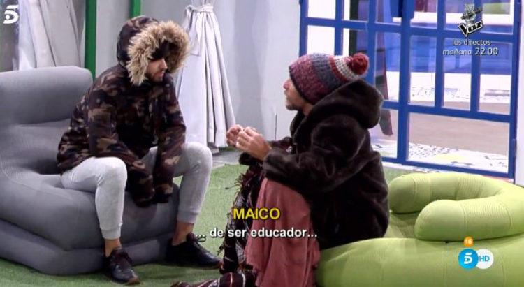 Rubén y Maico tienen una conversación sobre Hugo en el jardín | telecinco.es