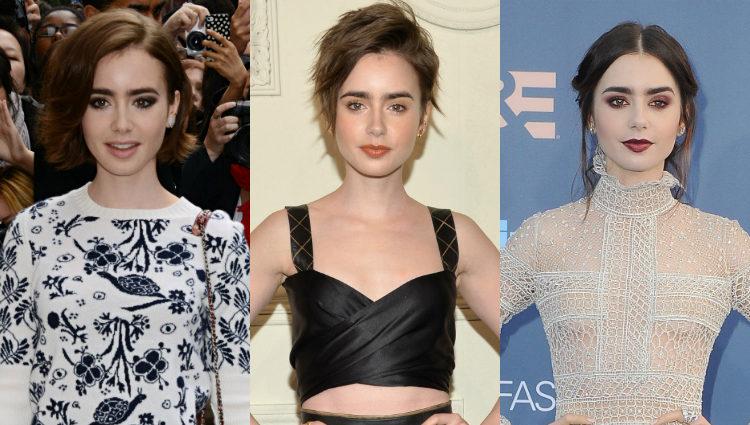 El aspecto de Lily Collins en 2014, 2015 y 2016