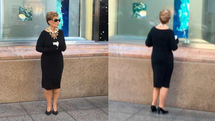 María Teresa Campos convertida en Audrey Hepburn / Twitter