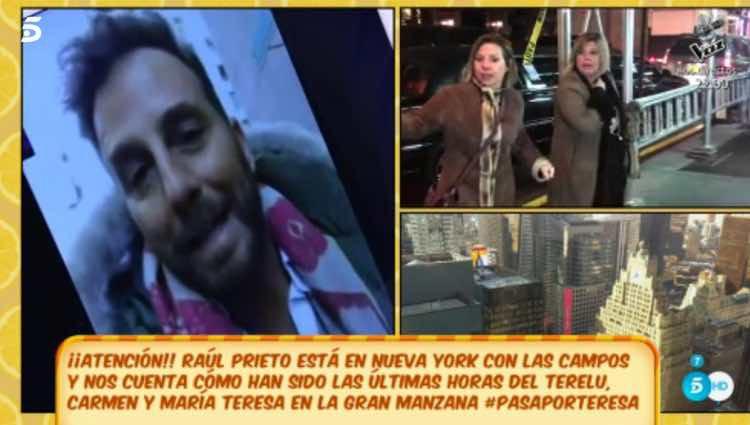 Raúl Prieto hablando de 'Las Campos' en Nueva York / Telecinco.es
