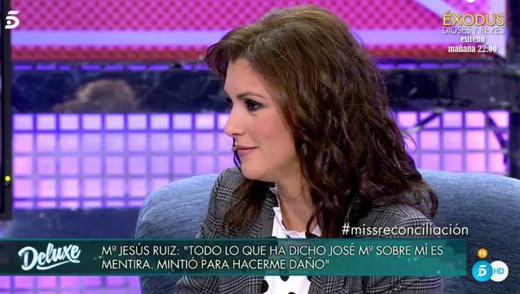 María Jesús Ruiz hablando de cómo fue su reconciliación / Telecinco.es