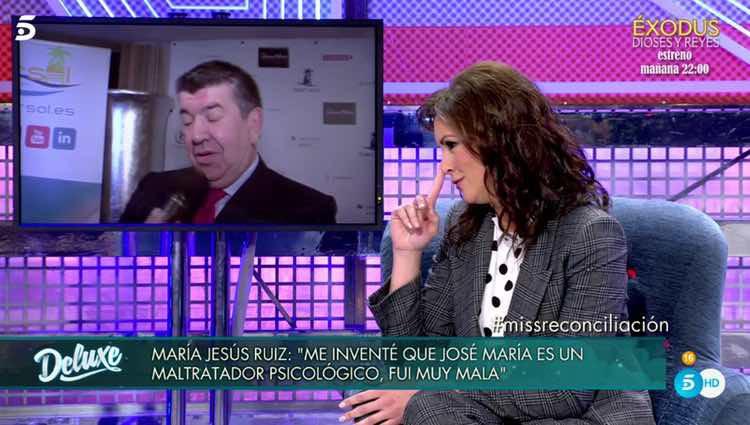 María Jesús Ruiz reconoce que mintió / Telecinco.es