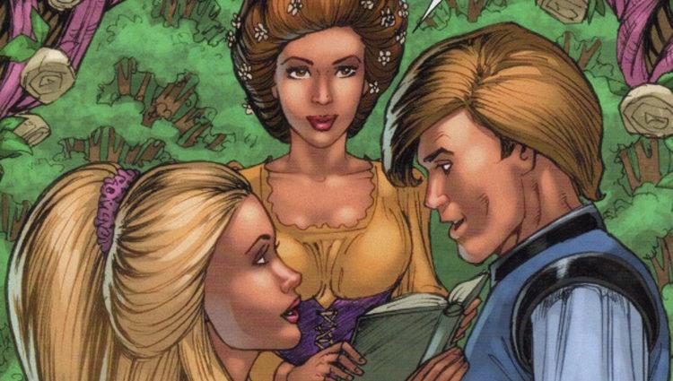 Phoebe junto a Romeo y Julieta