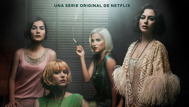Nadia de Santiago, Maggie Civantos, Ana Fernández y Blanca Suárez en 'Las chicas del cable'