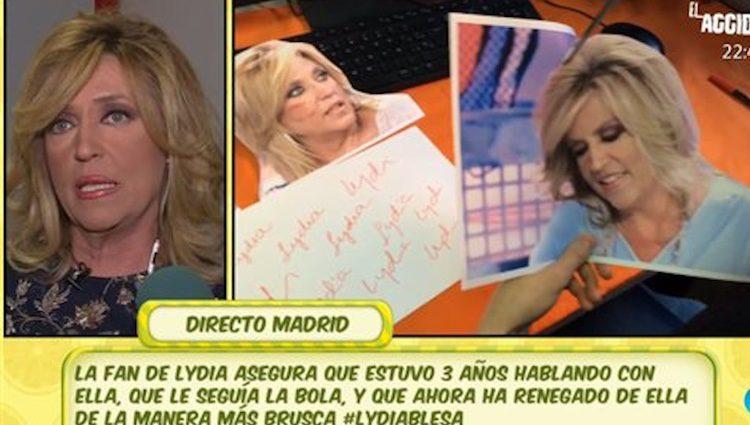 Lydia Lozano en 'Sálvame'/Foto:telecinco.es