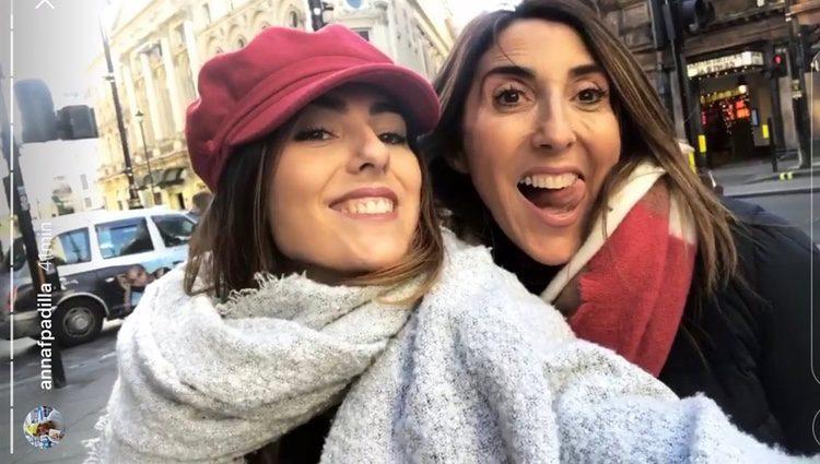 Paz Padilla y Anna en Londres / Foto: Instagram