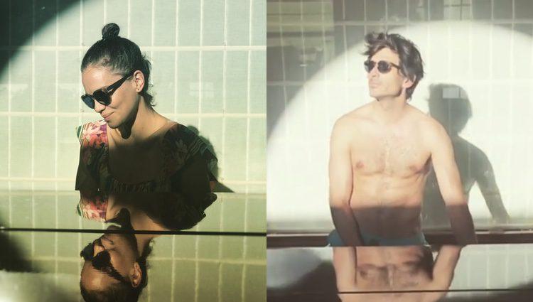 Luz Cipriota y Andrés Velencoso en el mismo lugar/ Fuente: Instagram