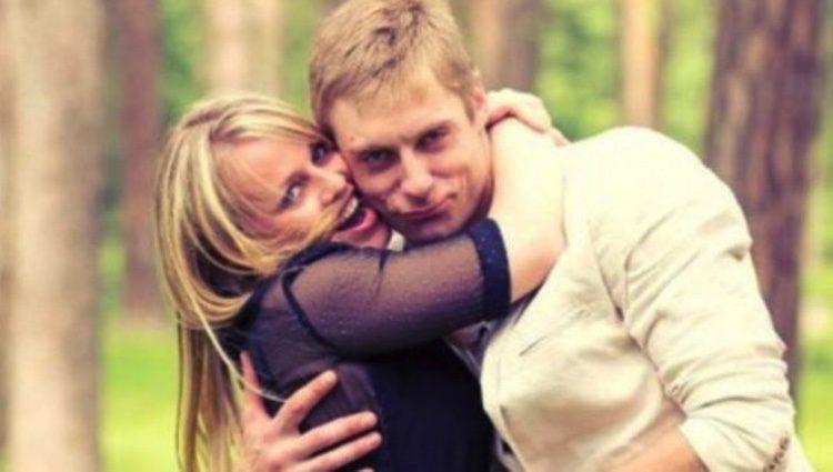 Tatiana con su marido