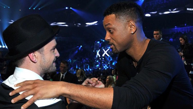 Justin Timberlake y Will Smith durante los MTV Video Music Awards 2013 Fuente: Instagram