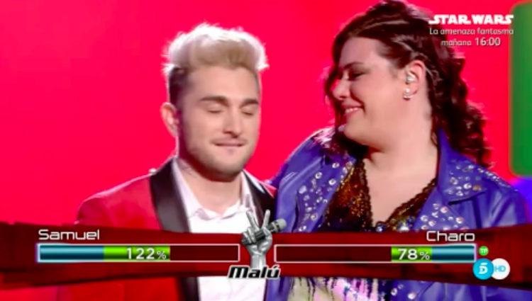 Samuel se convierte en el ganador del Equipo Malú tras vencer a Charo en la semifinal | telecinco.es