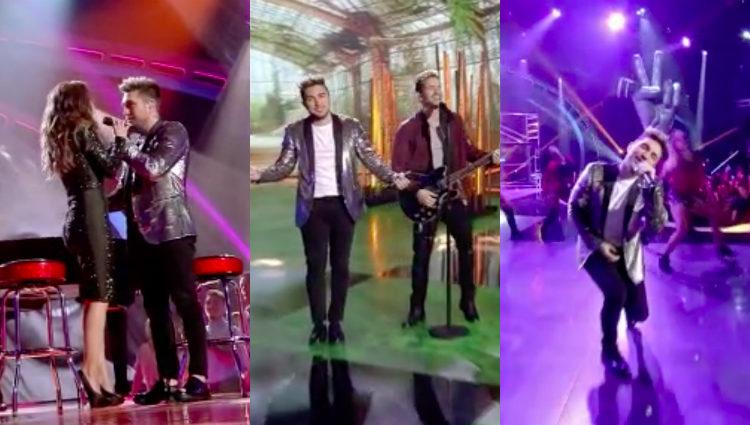 Samuel durante sus actuaciones en la final de 'La Voz 5'   telecinco.es