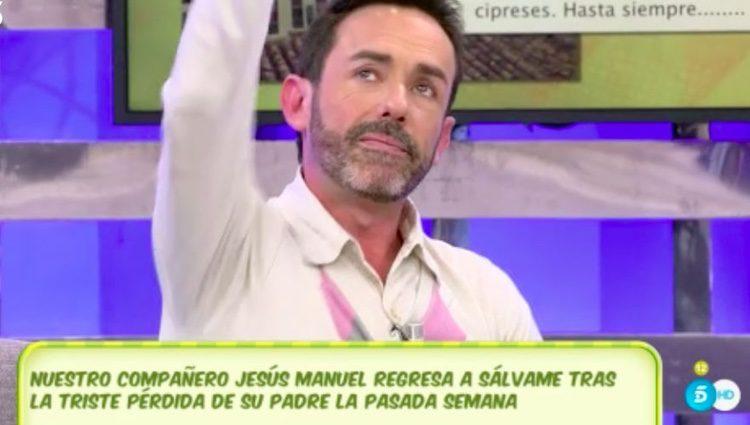 Jesús Manuel en 'Sálvame'/Foto:telecinco.es