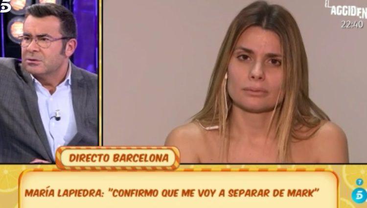 María Lapiedra en 'Sálvame'