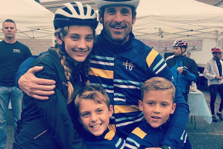 Patrick Dempsey con sus tres hijos/ Fuente: Instagram