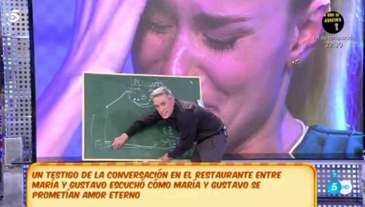 Kiko Hernández explicando la noche que han pasado Gustavo González y María Lapiedra / Telecinco.es
