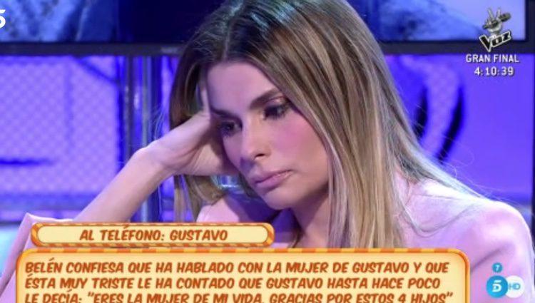 María Lapiedra en 'Sálvame' / Foto: telecinco.es