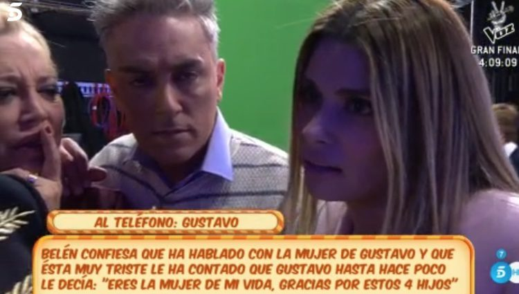 María Lapiedra hablando con Gustavo González / Foto: telecinco.es