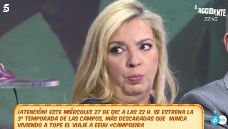 Carmen Borrego, molesta / Foto: telecinco.es